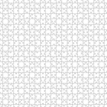 puzzling: white seamlees puzzle template