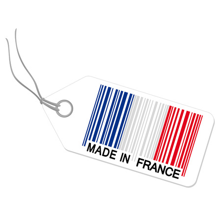ean: hangtag with MADE IN FRANCE