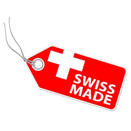 スイス製の hangtag  イラスト・ベクター素材