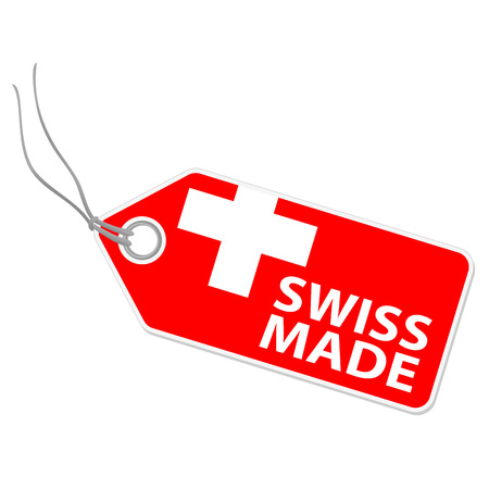 fabrication: hangtag with SWISS MADE