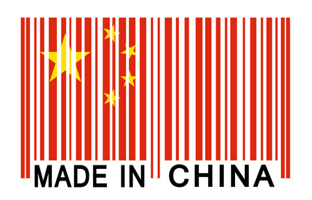 made in china: bar code - made in china Illustration