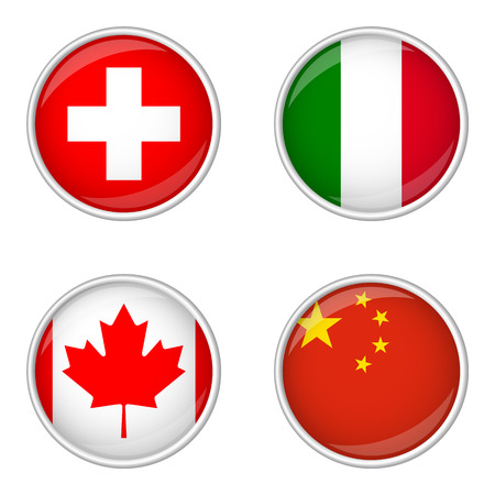 export import: button with flags collection