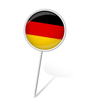 internationally: pin round with GERMANY flag