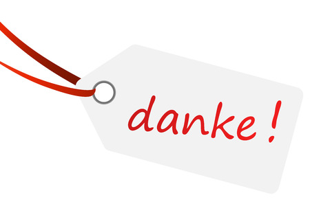 Hang tag with text   danke     Vector