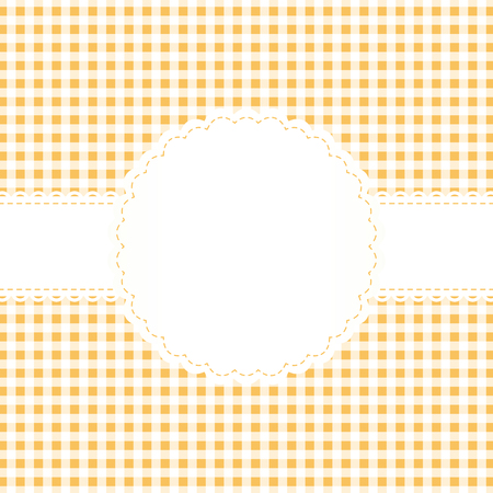 banderole: checkered background yellow with banner