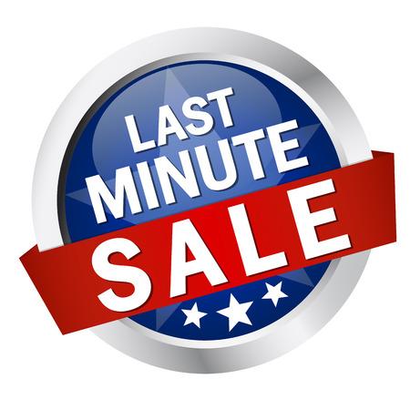 last minute: button - last minute sale Illustration
