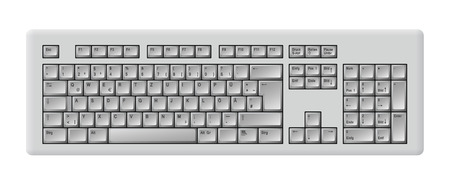 entry numbers: gray computer keyboard Illustration