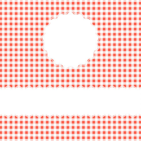 banderole: red checkered background with banner Illustration