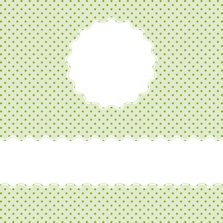 green pointed background with banner Vector