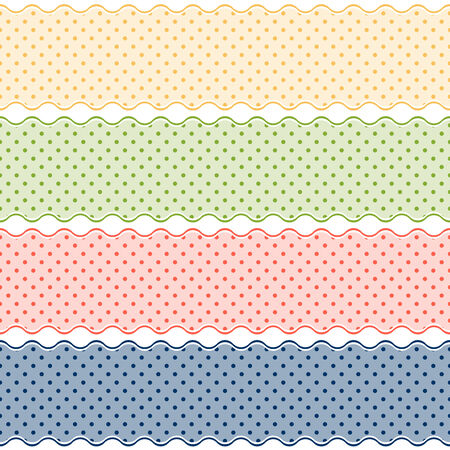 banderole: colored banners with points Illustration