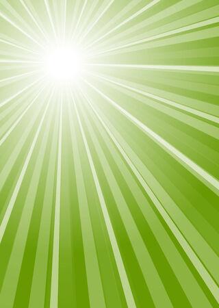 radiacion solar: verde rayos de colores de fondo Vectores