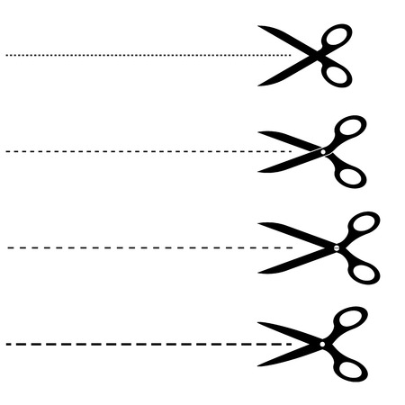 scissors icon: scissors with lined lines