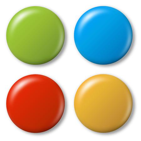 着色された磁石のコレクション  イラスト・ベクター素材