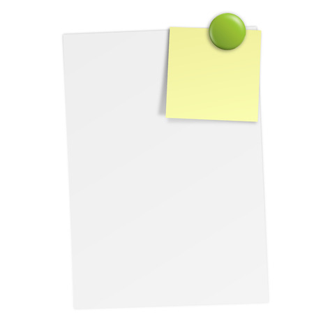 sheet of paper with magnet Vector