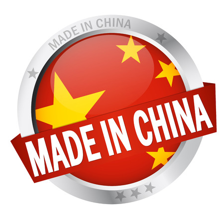 button MADE IN CHINA Vector