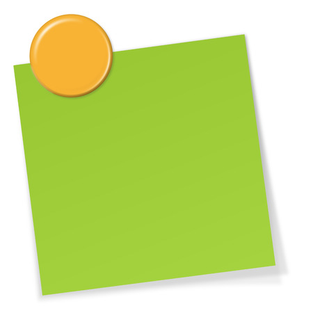 sticky note: sticky note with magnet Illustration