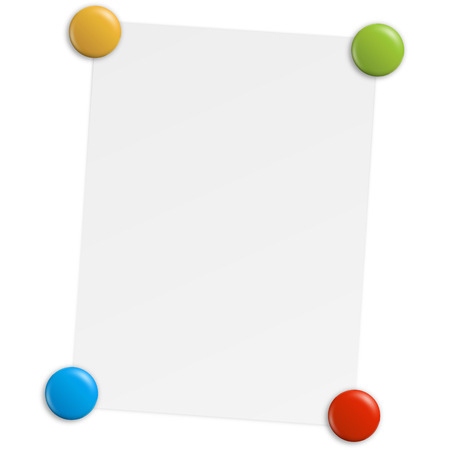 sheet of paper with magnets Vector