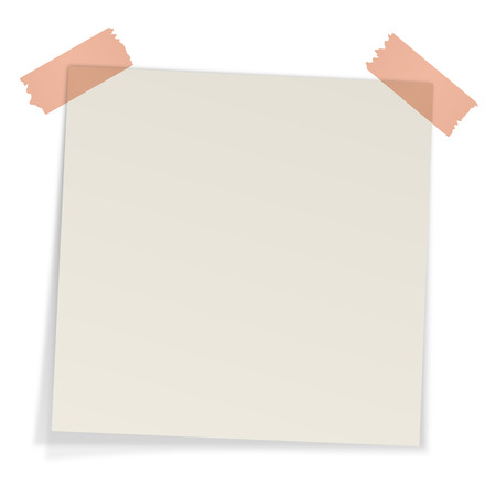 sticky note with adhesive tape Vector
