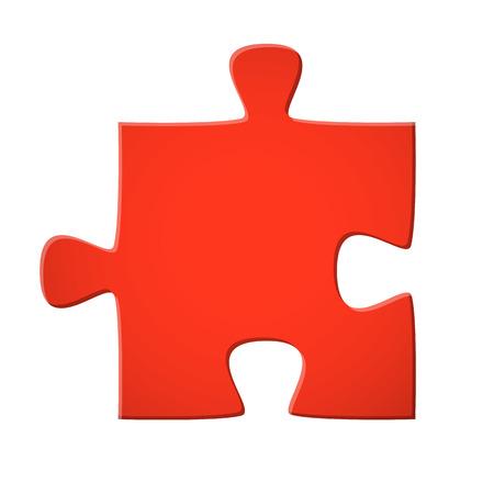 puzzle piece red Vector