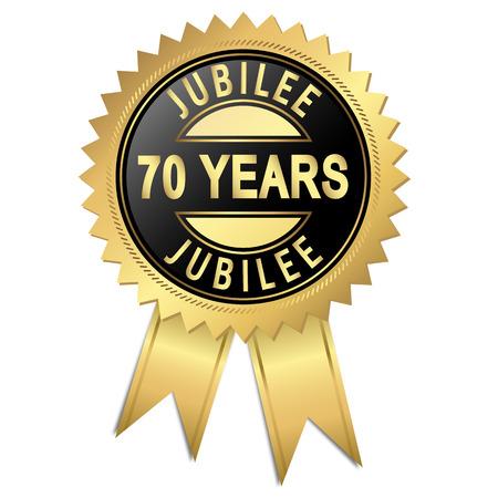 70 years: seal jubilee - 70 years Illustration