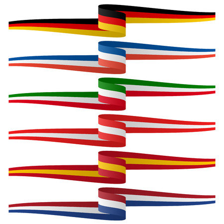 made in germany: collection - european country flag banners