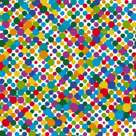 vector of seamless colored dots pattern background