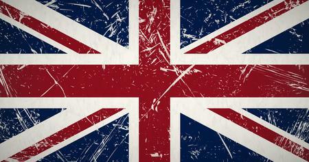retro grunge flag of the united kingdom