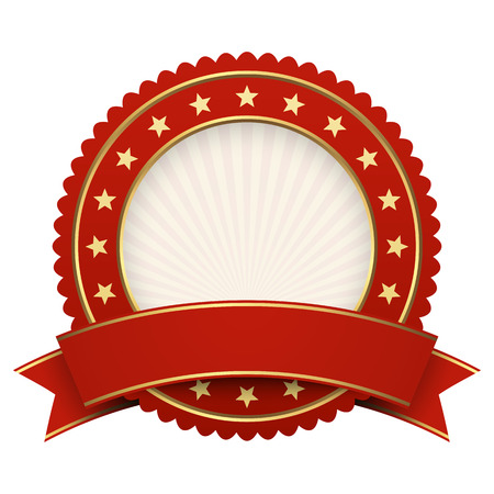 contest winner: Button template red with red banner vector