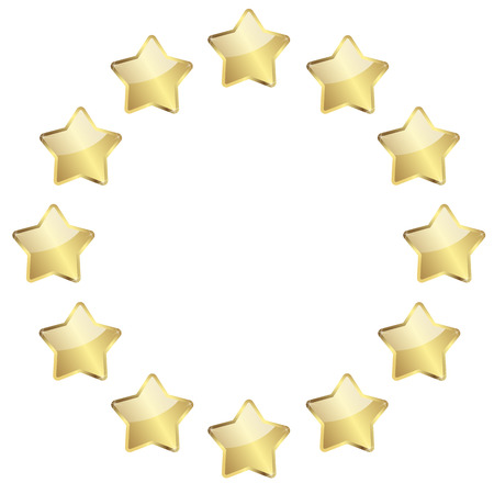 awards ceremony: vector of twelve golden stars in a circle Illustration