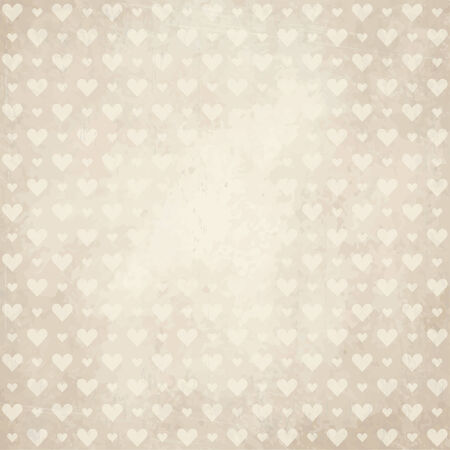 soiled: vector of old vintage paper background with hearts