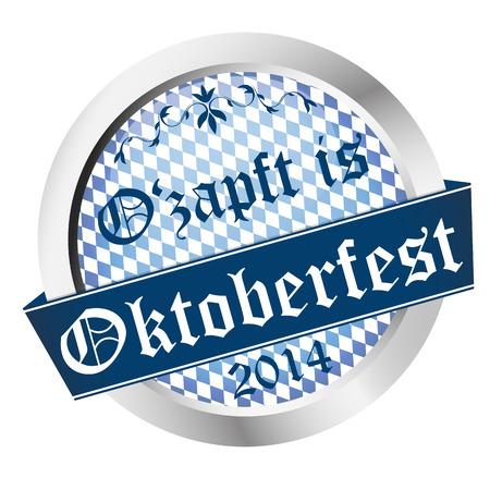 vector of Button Oktoberfest 2014 - Ozapft is Vector