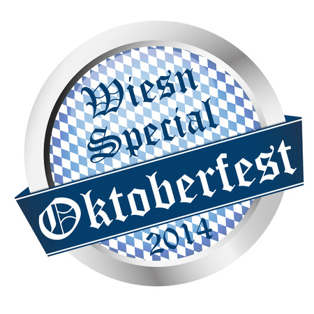 beer garden: vector of Button Oktoberfest 2014 - Wiesn Special Illustration