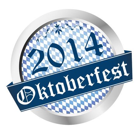 vector of button German Oktoberfest 2014 Munich Vector