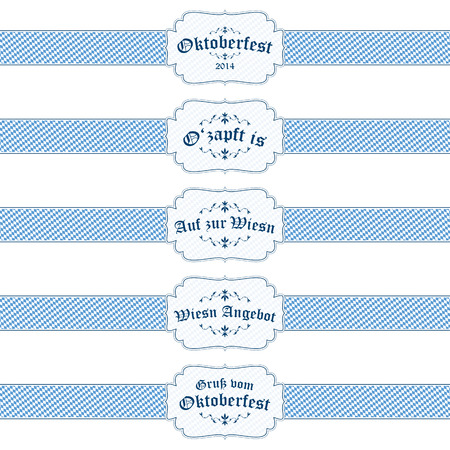 beer garden: vector of five different Oktoberfest 2014 banners Illustration