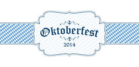 vector of Oktoberfest banner with text Oktoberfest 2014