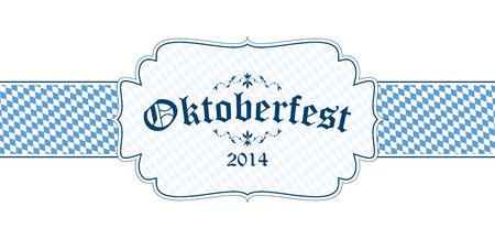wiesn: vector of Oktoberfest banner with text Oktoberfest 2014