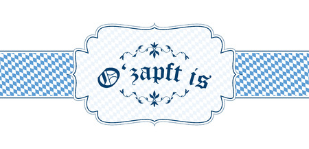 vector of Oktoberfest banner with text ozapft is Vector
