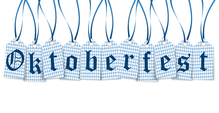 vector of hangtags with text Oktoberfest in Germany Vector