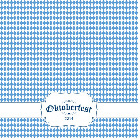 beer garden: vector of Oktoberfest background with banner and text Oktoberfest 2014 Illustration