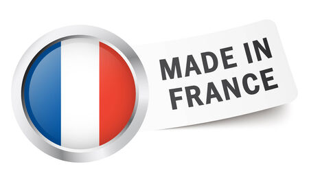 made in france: Button Made in France Illustration