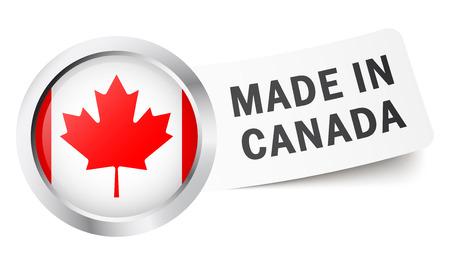 BUtton Made in Canada Vector