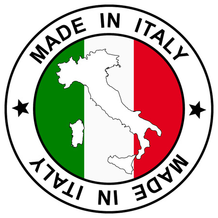 Button Made in Italy Vector