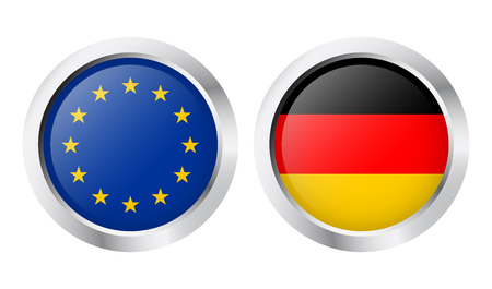 buttons EU and Germany Vector
