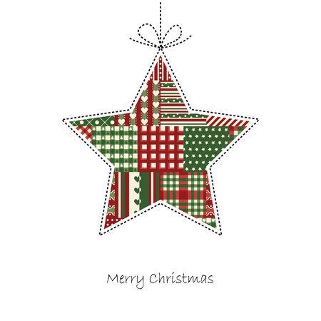 hangtag: merry christmas star hangtag