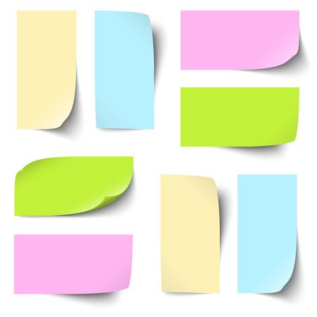 Collectie sticky notes gekleurd