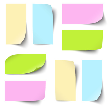sticky notes: collection of sticky notes colored