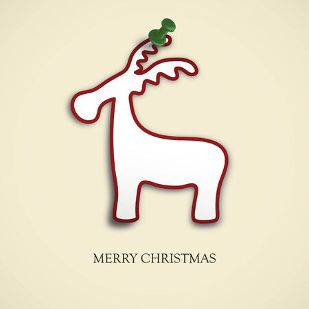 pinned: christmas card reindeer with pin needle