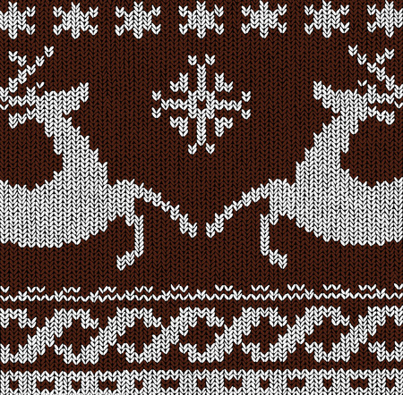 Christmas Background Norwegian Knitting Patterns Royalty Free