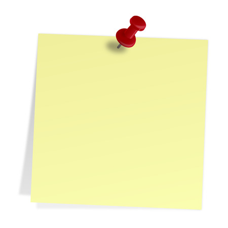 postit note:   sticky note with pin