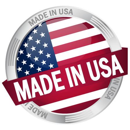 button MADE IN USA Vector